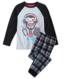 Max & Olivia Little & Big Boys 2-Pc. Up All Night Pajama Set