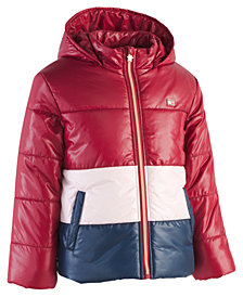 Tommy Hilfiger Big Girls Hooded Colorblocked Puffer Jacket