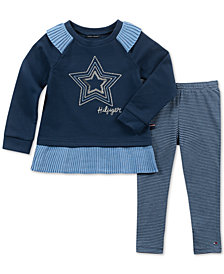 Tommy Hilfiger Infant Baby Girl 2-Pc. Star Tunic & Striped Leggings Set