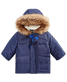 S Rothschild & CO Baby Boys Parka with Faux Fur Trimmed Hood