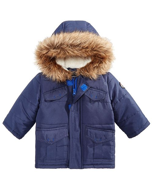f01a1a976 S Rothschild   CO Baby Boys Parka with Faux Fur Trimmed Hood ...