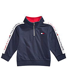 Tommy Hilfiger Baby Boys Cotton Half-Zip Sweatshirt