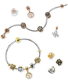 Rhona Sutton Bead Set Charm and Bracelet Gift Set Collection in Sterling Silver