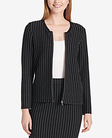 Calvin Klein Striped Zip Sweater Jacket