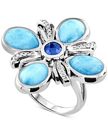 Marahlago Multi-Stone Ring in Sterling Silver
