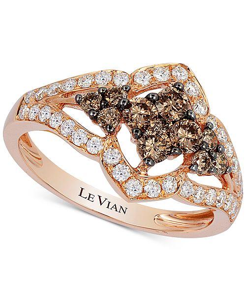 Le Vian Chocolatier® Diamond Statement Ring (1 ct. t.w.) in 14k Rose Gold