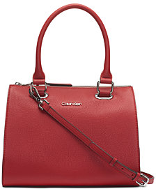 Calvin Klein Pebble Leather Halle Satchel