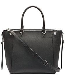 Calvin Klein Susan Saffiano Leather Satchel