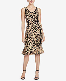 RACHEL Rachel Roy Animal-Print Flared-Hem Dress