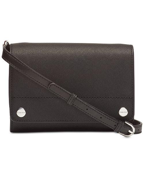 89f2b1a47626 Calvin Klein Susan Saffiano Leather Crossbody & Reviews - Handbags ...