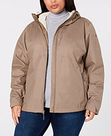 Columbia Plus Size Rainie Falls™ Waterproof Fleece-Lined Jacket
