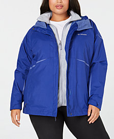 Columbia Plus Size Blazing Star Waterproof Fleece Lined 2 in 1 Jacket