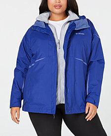 Columbia Plus Size Blazing Star Waterproof Fleece Lined 2 in 1 Jacket
