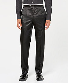 Sean John Men's Classic-Fit Black Solid Tuxedo Pants
