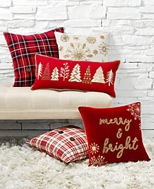 Lacourte Yuletide Decorative Pillow Collection, Created for Macy's