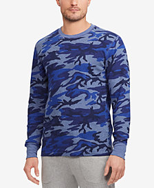 Polo Ralph Lauren Men's Waffle-Knit Cotton Camo Print Crew-Neck T-Shirt