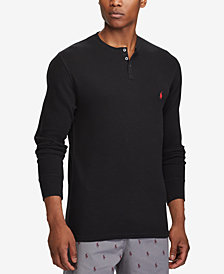 Polo Ralph Lauren Men's Waffle-Knit Henley Shirt
