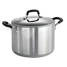 Tramontina Style Polished 8 Qt Covered Stock Pot