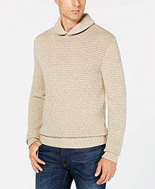 Michael Kors Men's Textured Shawl Collar Sweater