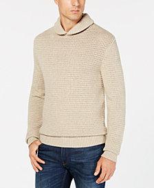 Michael Kors Men's Textured Shawl Collar Sweater