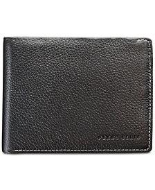 Perry Ellis Men's Leather Passcase &  Corkscrew Keychain