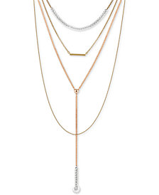 "Lucky Brand Two-Tone Multi-Layer 16"" Pendant Necklace"
