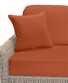 Willough Outdoor Loveseat Replacement Sunbrella® Cushion, Quick Ship