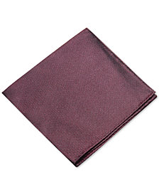 Ryan Seacrest Distinction™ Men's Textured Solid Silk Pocket Square, Created for Macy's