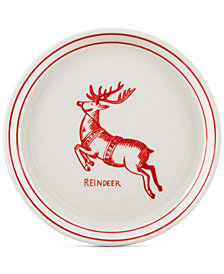 CLOSEOUT! Home Essentials Molly Hatch Reindeer Canapé Plate