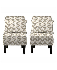 Bryce Chair Set with Bonus Pillows in Harmony Barley Tan