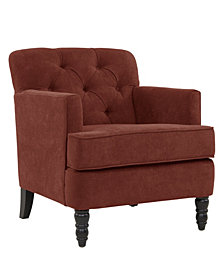 Suzanne Chair in Sangria Red Chenille