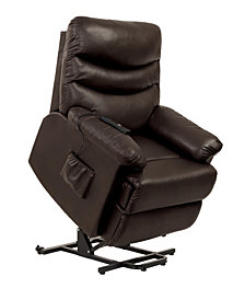 ProLounger® Wall Hugger Power Recline and Lift Chair in Coffee Brown Renu Leather