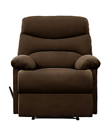 ProLounger Sherwin Wall Hugger Recliner in Brown Microfiber
