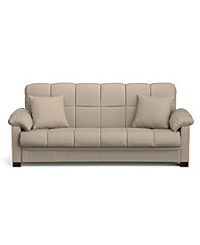 Maurice Convert-a-Couch in Mocha Microfiber