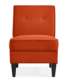 George Chair in Orange Linen