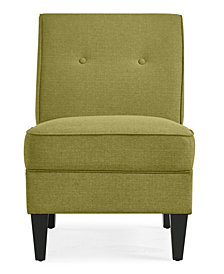 George Chair in Green Linen