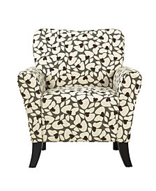 Sean Chair in Charcoal Modern Floral