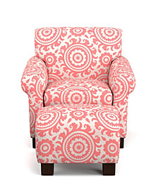 Wendy Chair & Ottoman in Coral Medallion