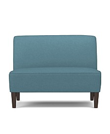 Bryce Settee in Blue Linen