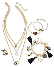 Thalia Sodi Crystal Evil Eye & Lips Jewelry Separates, Created for Macy's