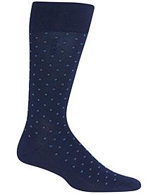 Polo Ralph Lauren Men's Mercerized All-Over Dot Trouser Socks