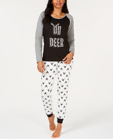 Matching Family Pajamas Women's Oh Deer Pajama Set, Created For Macy's