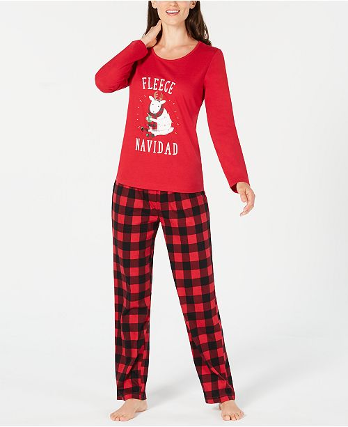 Family Pajamas Matching Women s Fleece Navidad Pajama Set ... cd68950a4