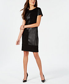 Ivanka Trump Mixed-Media Shift Dress
