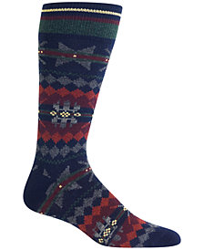 Polo Ralph Lauren Men's Navy Highland Fair Isle Boot Socks