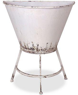 3r Studio Metal Half Wall Planter On Stand Bowls Vases Macy S