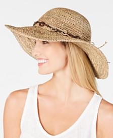 Scala Beaded Crochet Seagrass Hat