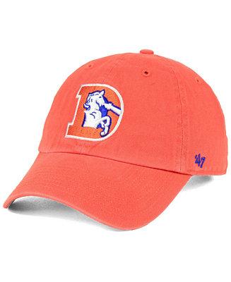 47 Brand Denver Broncos Clean Up Strapback Cap Amp Reviews Sports Fan Shop By Lids Men Macy S
