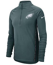 Nike Women's Philadelphia Eagles Element Core Quarter-Zip Pullover