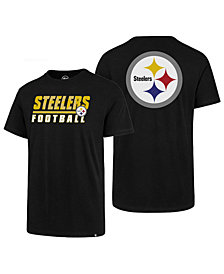 '47 Brand Men's Pittsburgh Steelers Fade Back Super Rival T-Shirt